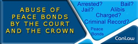 Criminal Charge How The Courts Abuse Peace Bonds Criminal