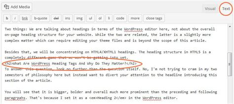 Heading To Your heading tags what they are and how to use them