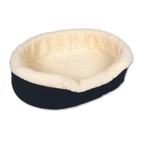 fleece dog bed shop doskocil denim fleece oval dog bed at lowes com