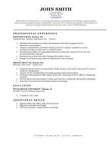 Sample Resume Template Download Resume Templates Resume Cv Example Template