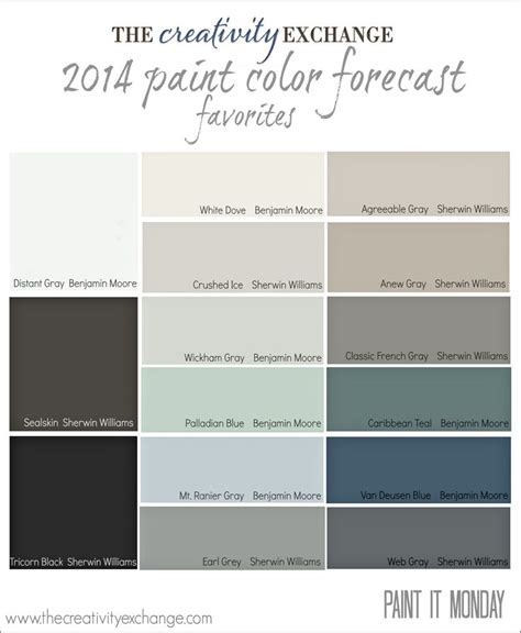 favorites from the 2014 paint color forecast paint it monday paint colors paint and colors