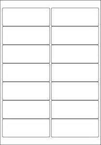 white a4 labels 14 per sheet 500 sheets per box from