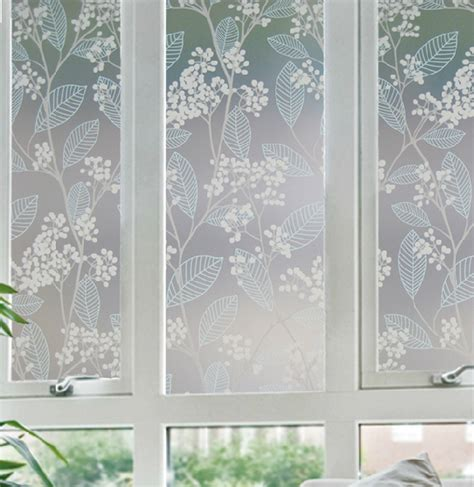 fenster milchglas 50x92cm frosted glass window stickers static matte