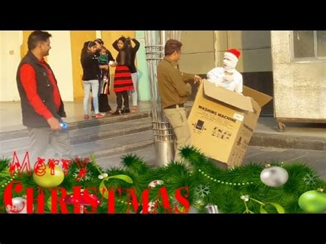 santa mummy box prank reactions merry christmas youtube