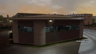 new large garage with editable company name ets2 mods
