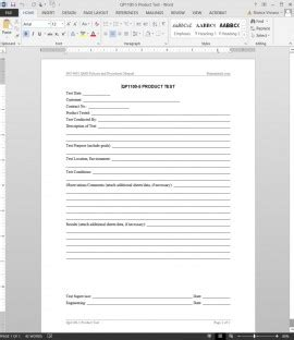 Quality Iso Forms Archives Bizmanualz Microsoft Office Test Template