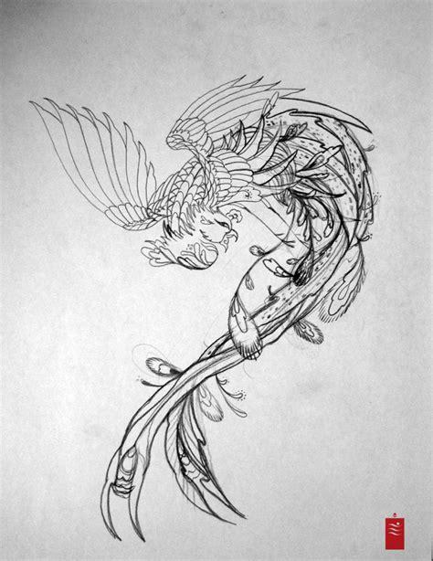 tattoo phoenix sketch tattoo designs phoenix 02 the collectioner