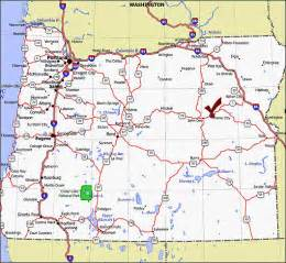 oregon map prairie city oregon map