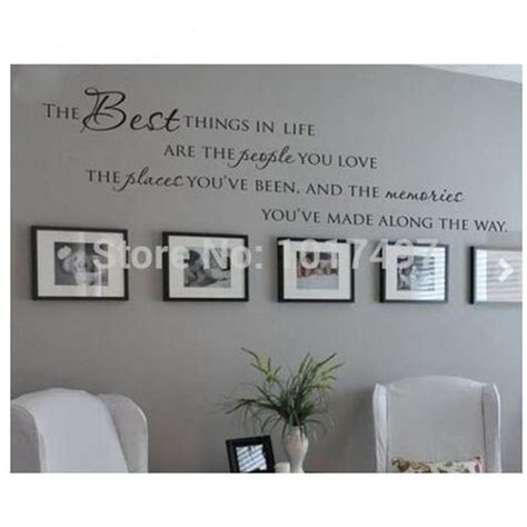 home decor vinyl wall art the best things in life vinyl wall decals love memories