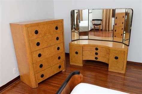 german art deco bedroom set saturday sale at 1stdibs american art deco mirrored vanity and high boy saturday