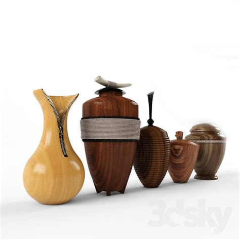 decorative objects 3d models vase wooden decorative objects