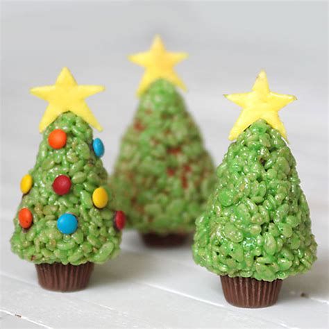 easy rice krispie krispy treat christmas trees to make
