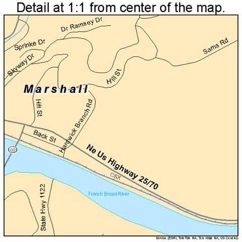 marshall carolina map 3741580