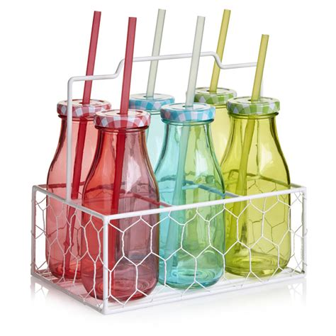 wilko swing top bottles wilko coloured milk bottle set 6pcs at wilko com
