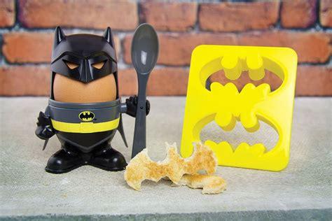Batman Toaster batman egg cup makes an egg looks like humpty dumpty in batman costume mikeshouts