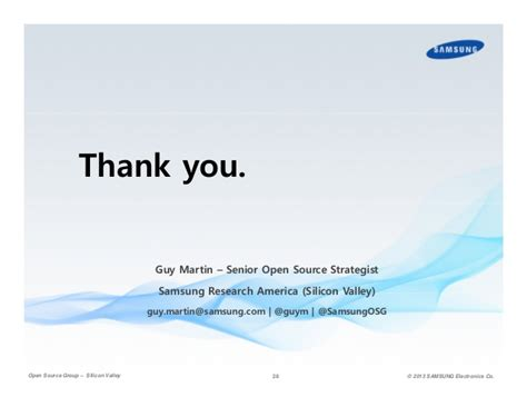Aib Mba Feedback by Samsung And The Path To Open Source Leadership
