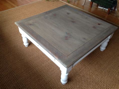 gray washed coffee table white base sparrow