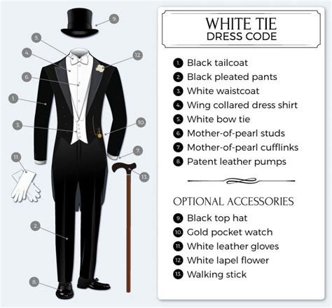 White Tie Wedding Dresses by White Tie Guide To White Tie Dress Code Tie A Tie Net