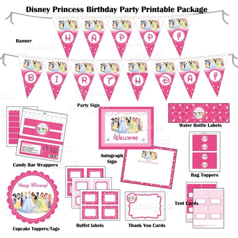 disney princess printable birthday banner 6 best images of disney princess birthday party free