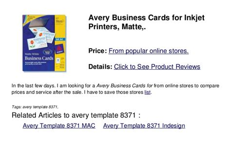 Avery Business Card Template 8371 Indesign by Avery Template 8371