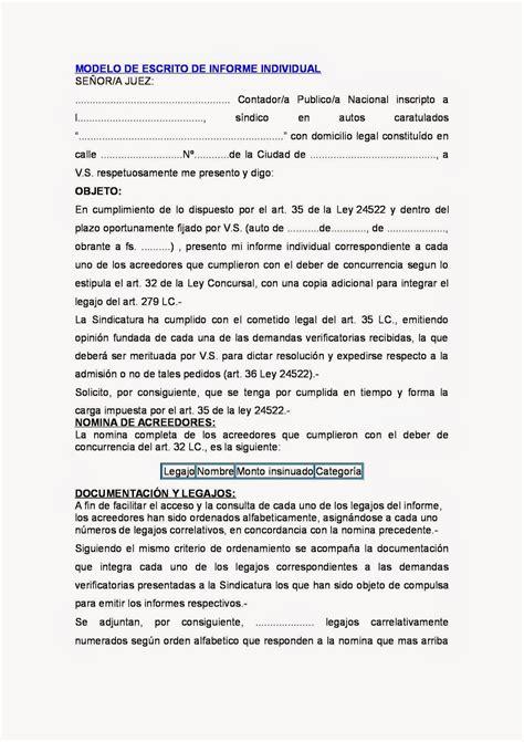 modelo acta notarial de nombramiento de mediador concursal concursos y quiebras informe individual del sindico