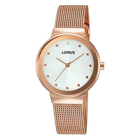 Lorus Women's Rose Gold Plated White Dial Bracelet Watch   H.Samuel