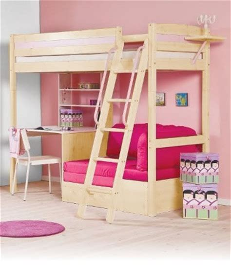 pink futon bunk bed with desk tips on maximizing the space in your child s bedroom
