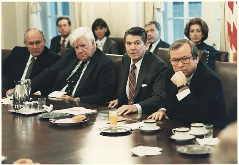 Ronald Cabinet by File Photograph Of President Meeting With Congress