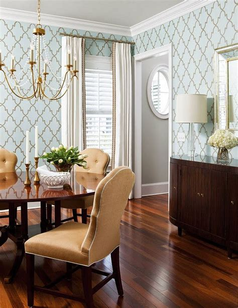 25 best ideas about dining room wallpaper on