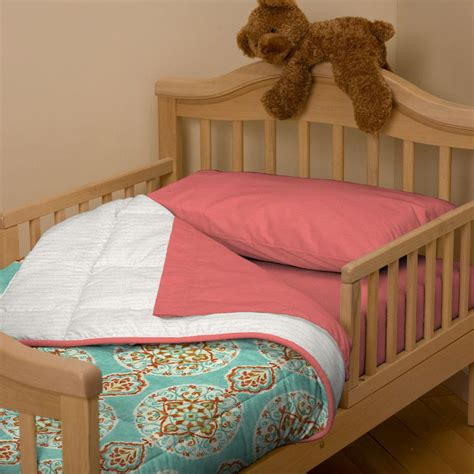 aqua and coral bedding coral and aqua medallion toddler bedding carousel designs