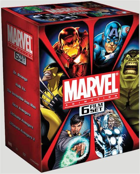 film marvel in dvd news marvel animation 6 film set us dvd r1 dvdactive