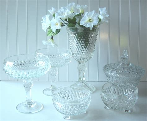 vases for buffets wedding bar wedding buffet pressed glass collection dishes vase set of 6 vase