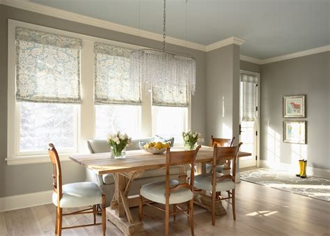 grey walls transitional dining room benjamin