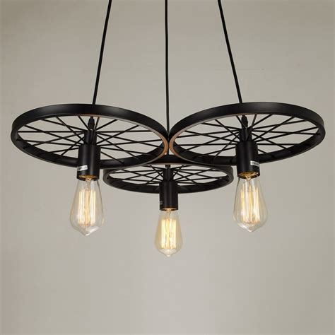 Industrial Style Chandelier Industrial Style Pendant Light 3 Edison Bulbs Chandelier Lighting Kitchen Pendan Chandeliers