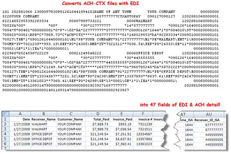 convert an edi document form 270 to a csv file ctx 2 excel 226 162 convert ach ctx files to excel