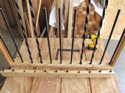 the deck barn how to install metal spindles