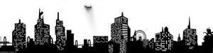 gotham city lineart by shadow of insanity on deviantart