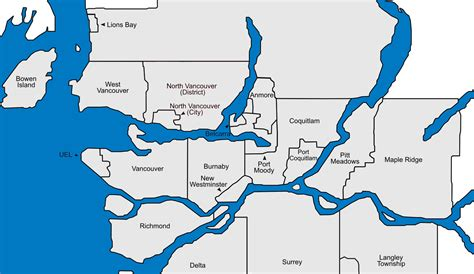 map of vancouver municipalities of vancouver maps and information