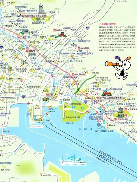 nagasaki map maps update 1156803 japan map for tourist japan maps