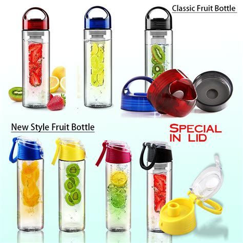 Clear Detox Water Bottle by 750ml Toxin Free Fruit Infuser Bottle Infusion My Clear