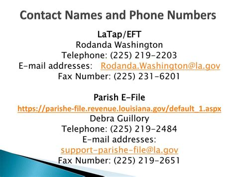 irs help desk phone number ppt louisiana department of revenue powerpoint