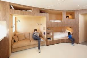 Small Apartment Design Ideas By H2o Architects Interior Design For Small Apartment With Many Beds In