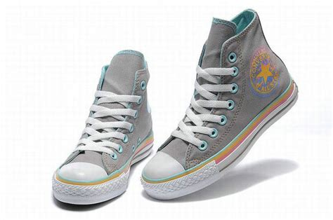 Converse All High Grey converse all overseas grey canvas with color edge high top sneakers ht11071408 52 00