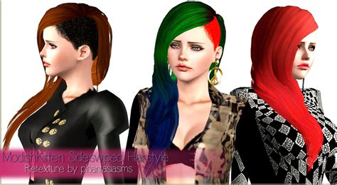 sims 4 half shaved side hair side shaved hairstyle retextured by phantasia sims 3 hairs