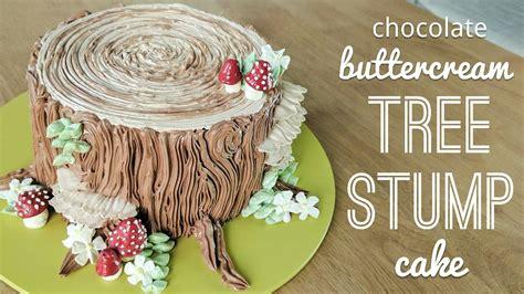 Stump Decorations Relaxing Cake Decorating All Buttercream Tree Stump Cake