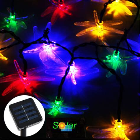 20leds dragonfly solar led christmas tree lights solar