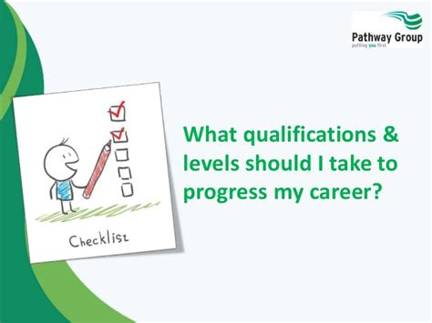 what qualifications levels should i take to progress my career