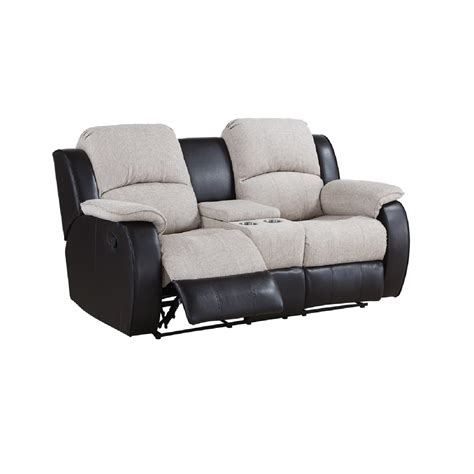 two seater sofa with center console chicago two seater console manual recliner sofa