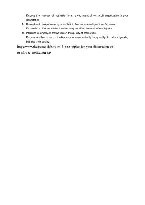 interesting dissertation topics 15 interesting dissertation topics on employee motivation