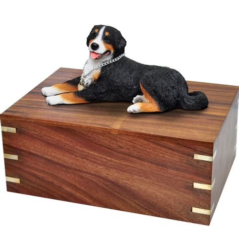 pet urns for dogs pet urns bernese mountain laying